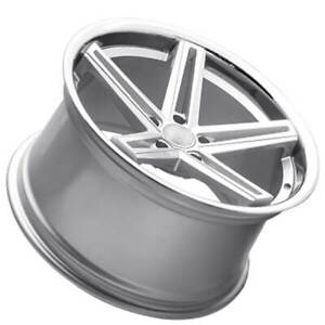 4 20 Staggered Concept One Wheels Cs55 Concave Matte Silver Rims b1