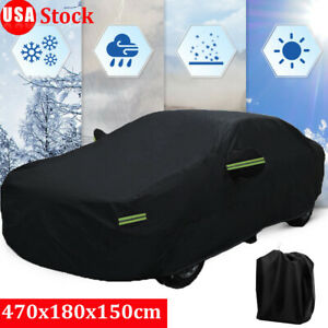 Large Full Car Cover Waterproof 420d Oxford Rain Snow Dust Resistant Protection
