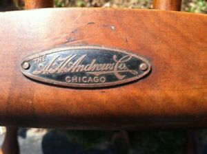 Windsor Chairs 1930 The A H Andrews Co Chicago Set Of 3