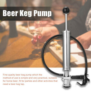 Beer Party Pump Keg Tap beer Brewing Equipment Picnic Stainless Steel Chrom A7u4