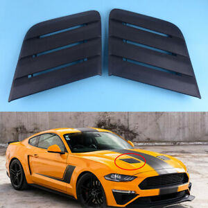 Fit For 2018 20 Ford Mustang 422083 Hood Bonnets Vent Heat Extractors Black Pair