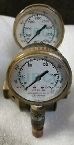 Airco Argon Helium Nitrogen Regulator Gauge 580