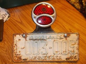 Ford Model A Tail Light Tail Light Bracket 1954 Minn License Plate And Bracket