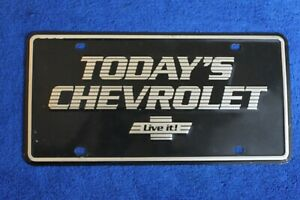 Vintage Todays Chevrolet Small Hole Dealer Front License Plate Topper Live It