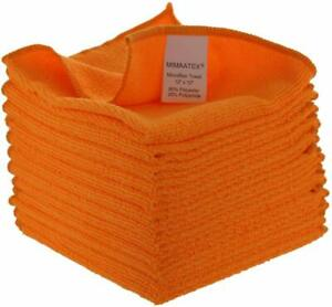 Microfiber Cleaning Cloth 12 Pack 12x12 inches Lint Free Streak Free $8.99