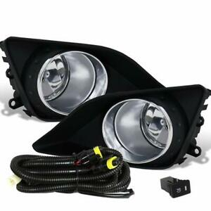Set Of W Switch Bulbs Wiring Kit For 2009 2010 Toyota Corolla Black Fog Lights