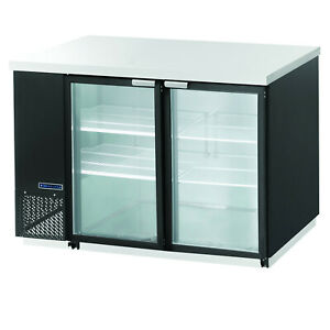 Maxx Cold 59 1 Commercial Back Bar Beer Bottle Cooler Two 2 Double Glass Doors