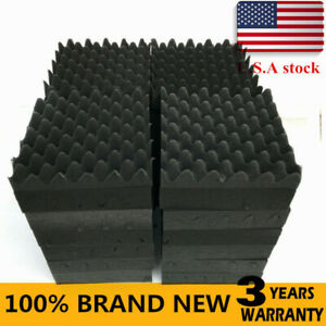 50 Pack Acoustic Studio Foam Tiles Wall Panels Soundproofing Wedge 12 x12 x2