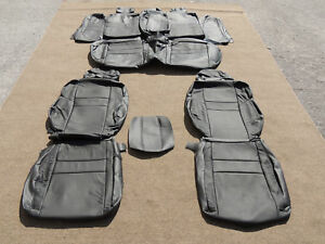 Leather Seat Covers Interior For 2006 2010 Honda Civic Si 4dr Black 113