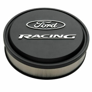 Proform 302 380 Cast Aluminum Ford Racing Black Air Cleaner Kit 13 Diameter