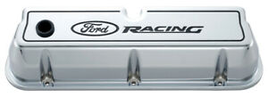 Proform 302 002 Aluminum Valve Covers Sbf Tall Chrome Ford Racing Logo