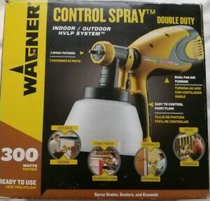 Wagner 300w Indoor Outdoor Control Spray Double Duty Paint Sprayer 0417274