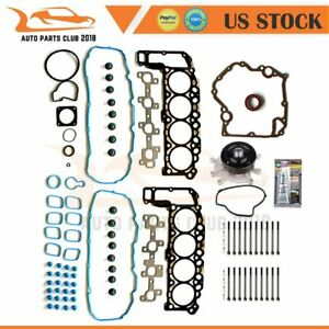Head Gasket Bolts Set Cover Gasket Water Pump Fits 02 Dodge Dakota Durango 4 7l