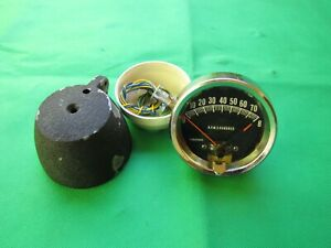 Vintage Usa Made 8000 Rpm Tachometer 3 Face