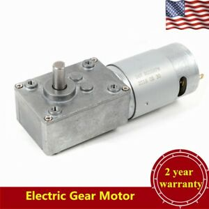 3 Rpm Electric Gear Motor 12v Low Speed Gearmotor Dc Worm Reversible 38kg cm Usa