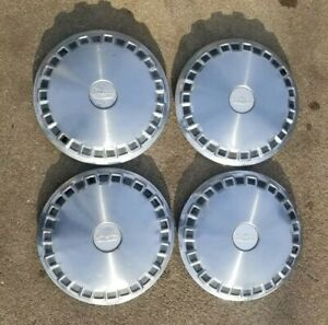 1975 1976 Chevy Caprice Classic 15 Hub Caps Chevrolet Set Of 4 Vintage Gm 75 76