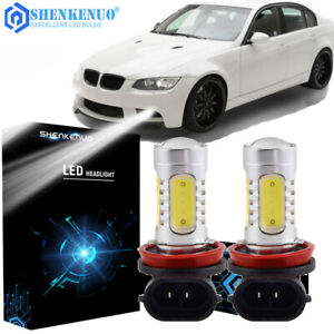 2x Bright Error Free H11 Led Projector Fog Light Bulbs For Bmw E90 325 328 335i