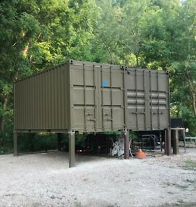 Cargo Shipping Container 20 With Steel Man Door Wind Water Tight Painted