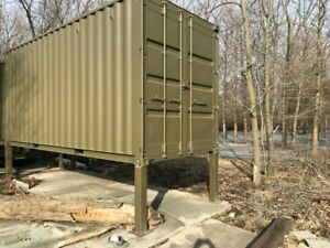 Cargo Shipping Container High Cube 20 X 8 X 9 6 Wind Water Tight Painted