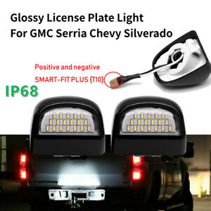 Pair Led License Plate Light For Gmc Chevy Silverado Avalanche 1500 2500 3500