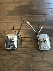 Vintage Chevy Dodge Ford Gmc Truck Stainless Steel West Coast Mirrors Pair