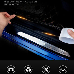 6x60 Clear Door Sill Edge Paint Protection Scratches Vinyl Film Sheet All Car