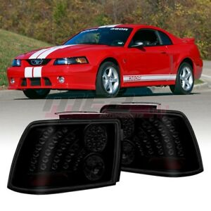 For Ford Mustang 1999 2004 Oe Fit Led Style Tail Lights Rear Lamps Black smoke
