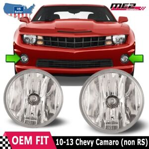 For Chevy Camaro 10 13 Bumper Driving Fog Lights Lamps Replacement Pair Clear
