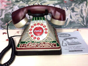 COCA-COLA Phone TIFFANY STAINED GLASS STYLE Demo Comes with Box
