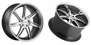 Vossen Wheels Vvs 86 5x112 Black Machine Face 20x10 5 Et56 Set Of 4
