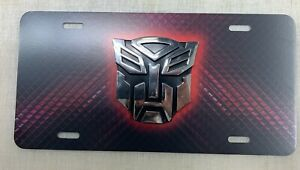 Transformers Vehicle License Plate Front Auto Tag New Autobots Decepticons 3d