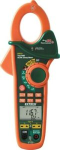 New Extech Ex623 True Rms 400a Acdc Clamp Meter Ir Thermometer