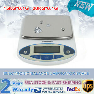 Lcd Digital Lab Analytical Balance Scale Jewelry Precision Weighing 15 20kgx0 1g