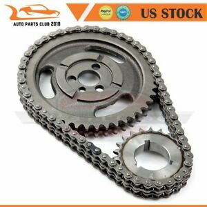 Roller Timing Chain 3 key Crank Gear For Chevy 5 7l 283 305 327 350 383