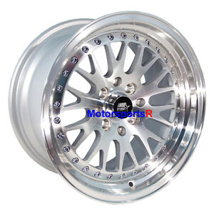Mst Wheels Mt10 Rims 16x8 20 Silver Machine Lip 4x100 94 01 Acura Integra Gsr