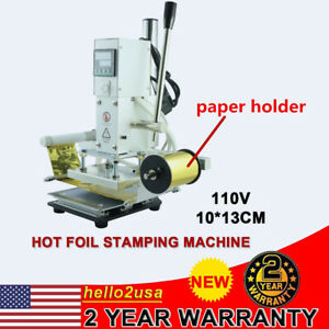 10 13cm Hot Foil Stamping Machine Leather Stamper Embossing Printing Marking
