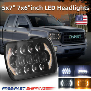 Newest Brightest 105w 7x6 5x7 Led Headlight Drl For Chevrolet Jeep Cherokee Xj