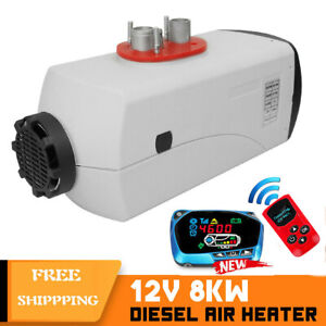 All In1 8kw 12v Diesel Air Heater Lcd Monitor Thermostat Trucks Boat Car Trailer