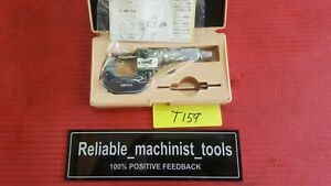 new Mitutoyo Spherical Micrometer Digit Counter 0 1 Tube Thickness Od t159