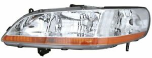 New Ho2502111 Driver Side Headlamp For Honda Accord 1998 2000