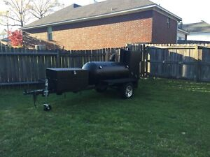 Custom Bbq Smoker Bbq Smoker Deluxe With Chargrill And Trailer