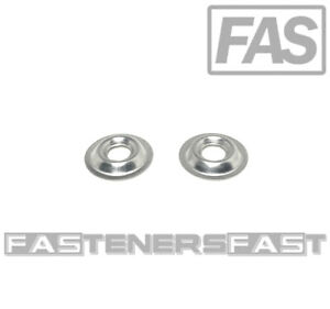 100 8 Stainless Steel Flanged Finishing Washers Cup Washers 316