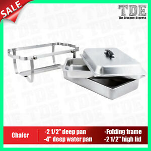 8 Qt Full Size Stainless Steel Chafer With Folding Frame Chafer Chafing Buffet