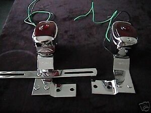 Tail Light And Bracket Set Chevrolet Truck 1947 Thru 1953 All Stainless Parts