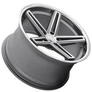4 22 Staggered Concept One Wheels Cs55 Concave Gunmetal Rims b3