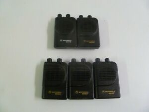 Lot Of Five Motorola Minitor Iii Iv 151 158 9 Mhz Vhf Fire Ems Pagers Y347