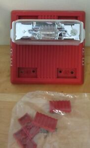 Wheelock Mt 121575w fr ul ulc Red Fire Alarm Multitone Horn Strobe New