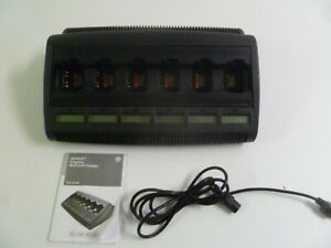 Motorola Impres Wpln4198a Six Bank Radio Charger With Lcd Displays Ht750 Ht1250