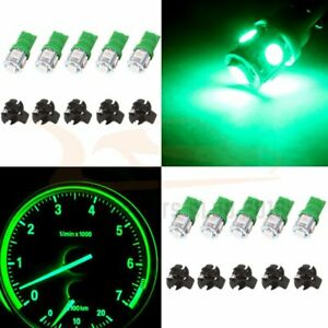 10x Green Led Dashboard Cluster Gauge Light Bulb W 5 8 Twist Lock Wedge Socket