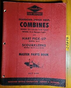 Dearborn Wood Bros 16 1 16 2 Combine Master Parts Book Manual Pa 5406 7 49